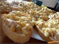 Czech Recipes, Russian Recipes, Ethnic Recipes, Polish Recipes, Bon Appetit, Baked Potato, Ham, Camembert Cheese, Salad Recipes