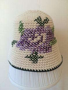 #hat#handmade#şapka#tığişi#kanaviçe#crosstich#crochet#rose