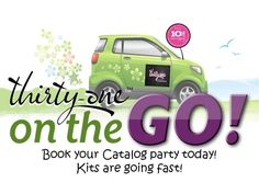 Thirty-One On the Go Party! Catalog parties are great for busy moms!