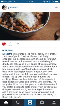 Delicious soup recipe from @juliaostro on Instagram