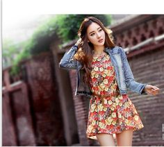 Floral dress-top - 69321  USD $10.60
