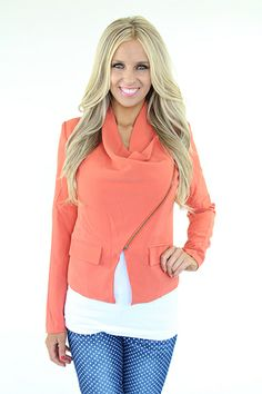 Lime Lush Boutique - Rust Blazer With Zipper, $69.99 (http://www.limelush.com/rust-blazer-with-zipper/)