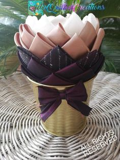 Fabric pot flower kitchen tabletop decor holiday pot flower Quilted Ornaments, Styrofoam Ball, Original Gifts, Rustic Farmhouse Decor, Rustic Elegance, Teacher Appreciation Gifts, Centerpiece Decorations, Easter Gift, Hostess Gifts