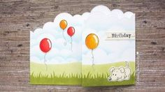 Project: Puppy Tri-Fold Card with Stamps and Stencils