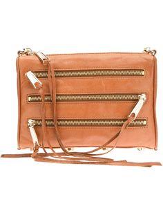 Mini 5-Zip Clutch Shoulder Bag | Rebecca Minkoff