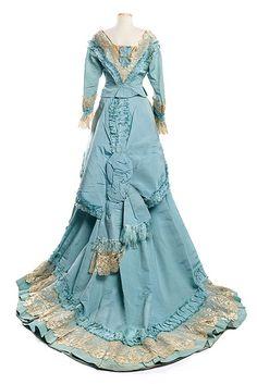 Silk faille dress, 1870s, Mme. Gabrielle | Flickr - Photo Sharing!