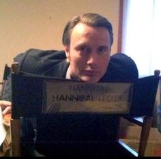 "Filming ""Hannibal"": Mads Mikkelsen. What an adorable specimen :)"