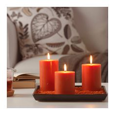 NYKÄR Scented block candle, set of 3  - IKEA