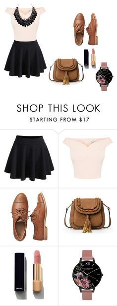 """""""Sunday evening"""" by roberta-abm ❤ liked on Polyvore featuring WithChic, Gap, Chanel, Olivia Burton, Adoriana, Loveyourself, woman and Fall2016"""