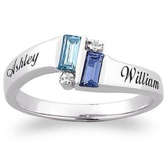 Walmart - Personalized Sterling Silver Birthstone Band. I am getting this with my kids names and birthstones.