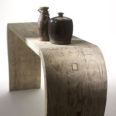 CHINESE ANSESTOR SCROLLS   ... Table in Solid Reclaimed Elm Wood, Shimu Country Chinese Furniture