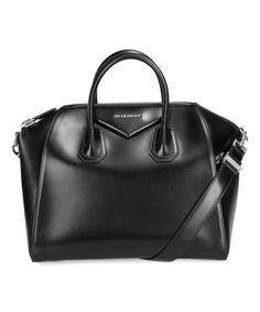 Loving this Black Antigona Leather Satchel on #zulily! #zulilyfinds