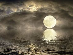 Full Moon kisses the water.