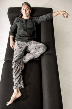 """Mads Mikkelsen by Soren Bidstrup.  Shall I start a new board called """"Mads in Camo?""""  He certainly wears these pants enough..."""