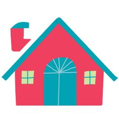 snow cap house-red