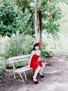 RED 90s CHIFFON GATHERED Bust Dress Rd2 Hankerchief hem