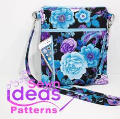 Sewing Clothes For Men Crossbody Dog walking bag PDF sewing pattern Sewing Projects For Beginners, Sewing Tutorials, Sewing Hacks, Sewing Tips, Sewing Patterns Free, Free Sewing, Quilting Patterns, Sewing Men, Clothes Patterns