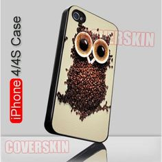 Vintage Owl Coffee Retro iPhone 4 or 4S Case Cover