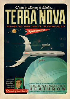 Terranova. Space Cruise Poster based on an old Frank Hampson strip from the 50s called Terra Nova. (Neal McCulloch, 2013)