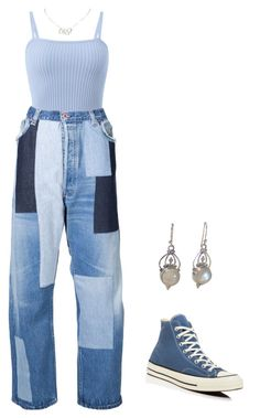 """my humps"" by m4r1n ❤ liked on Polyvore featuring Off-White, Converse and Christian Dior"