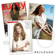 The editors at @luckymagazine shared a double-dose of #SilpadaStyle in their May issue!