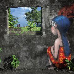 Living Canvas, Tahiti Nui - Street Art by Seth Globepainter  <3 <3