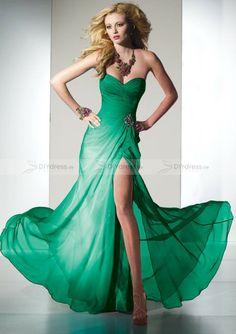 green prom dress& Ballkleid