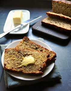Banana Oat Bread with Butter
