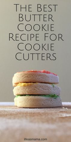 The BEST butter cookie recipe, especially if you're using cookie cutters. Just a few ingredients and this also has a homemade frosting recipe too!                                                                                                                                                                                 More