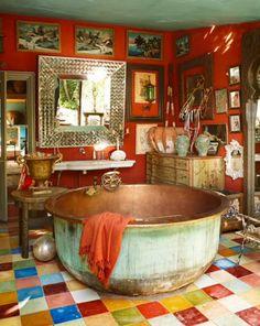 Boho home decor interesting stunning beautiful bohemian decor ideas bohemian bathroom with copper bathtub bohemian home . boho home decor Style At Home, Copper Tub, Copper Metal, Sweet Home, Bohemian Bathroom, Seashell Bathroom, Beautiful Bathrooms, Dream Bathrooms, White Bathrooms