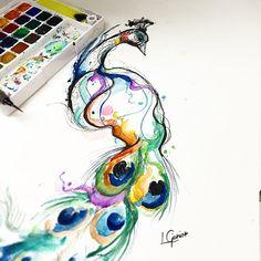 Pavão da Bru • logo mais vai pra pele • Peacock | Pavão #peacock #pavao #pavaotattoo #tattoo #tatuagem #aquarela #watercolor #colorful #colors #abstract #lcjunior #tatuagem #tattoo2me #arts_help
