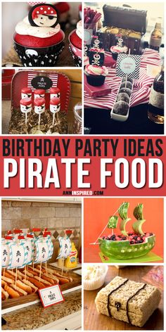 The best pirate birthday party food for kids. Homemade pirate food ideas perfect for … – Wanderlust Pirate Food, Pirate Party Games, Pirate Kids, Pirate Themed Food, Pirate Snacks, Party Food Labels, Party Food Themes, Party Ideas, 6th Birthday Parties