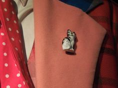 Sixth Doctor Who costume cat brooch