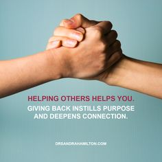 The power of helping others...