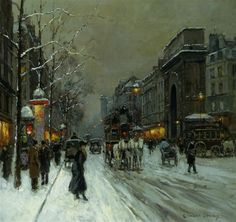 art.quenalbertini: Boulevard de la Madeleine by Edouard Leon Cortes   WikiArt.org