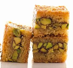 Arabian Baklava Recipe from Grannies' Goodies I like the idea of pistachio and simple syrup