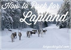 Ultimate Female Travel Packing List for Lapland