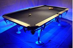 Martin-Bauer Tournament Table - For all you pool sharks out there, this is one table for you to drool over. The Martin-Bauer Tournament Table is a space-age pool table with high-t...