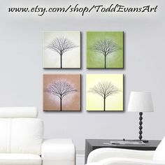 Tree Wall Art, Tree Art, Wall Art Decor, Three Canvas Painting, Canvas Art, Tree House Decor, Home Decor, Hanging Canvas, Wall Art For Sale