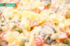 Recept Vánoční bramborový salát Hawaiian Pizza, Pasta Salad, Potato Salad, Good Food, Food And Drink, Healthy Recipes, Cooking, Ethnic Recipes, Christmas