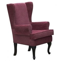 queen anne style chair in a latte tartan fabric wing back fireside high tartan fabricwing chairsliving room - High Back Chairs For Living Room