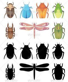Bugs — Vector EPS #isolated #cartoon • Available here → https://graphicriver.net/item/bugs/1185729?ref=pxcr