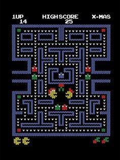 'UglyPac' Classic Arcade Video Game Parody 18x24 - Vinyl Print Poster