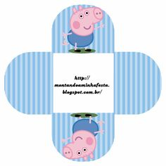 Montando minha festa: George Pig Peppa Pig Printables, Party Printables, Free Printables, Papa Pig, Peppa Pig Teddy, Aniversario Peppa Pig, George Pig, Pig Party, Party In A Box