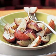 These rosemary potatoes taste as if they were roasted in the oven--but take only half the time making them a versatile and easy side dish.