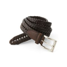 Men's Croft & Barrow® Handlaced Basket Weave Braided Belt, Size: 42, Brown #braidedbeltmen's