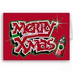 Merry Christmas graffiti card from http://www.zazzle.com/graffiti+christmas+cards