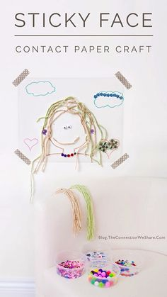 Sticky face contact paper craft #AETN #BeMore