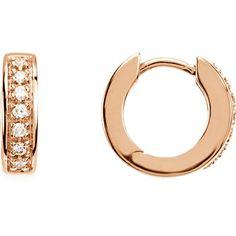 Mens Ladies 14k Yellow Gold Polished Hinged Hoop Earrings 13mm x 3mm