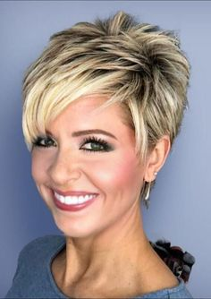 Today we have the most stylish 86 Cute Short Pixie Haircuts. We claim that you have never seen such elegant and eye-catching short hairstyles before. Pixie haircut, of course, offers a lot of options for the hair of the ladies'… Continue Reading → Pixie Haircut For Thick Hair, Short Choppy Hair, Short Hairstyles For Thick Hair, Short Grey Hair, Short Hair With Layers, Curly Hair Styles, Layered Short Hair, Short Hair Over 50, Short Hair Cuts For Women Pixie